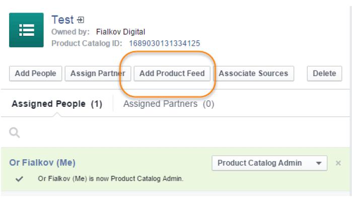 Add Product Feed