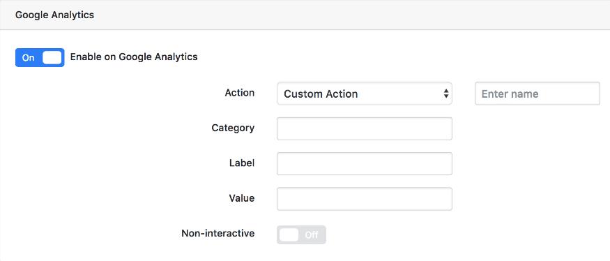 Enable on Google Analytics