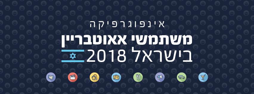 אינפוגרפיקה משתמשי אאוטבריין בישראל 2018