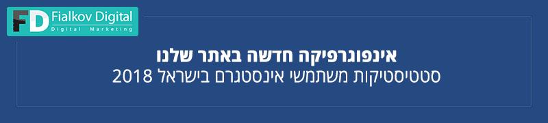 סטטיסטיקות משתמשי אינסטגרם בישראל 2018